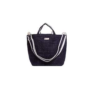 Stright Size Bag with Zip dark blue