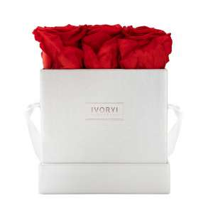 Flowerbox medium, romantic red
