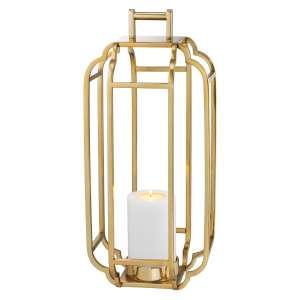 Windlicht 55 cm gold finish