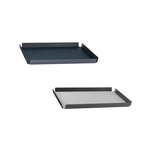 Tablett 37x47 cm Aluminium Cloud schwarz/Nupo metallic
