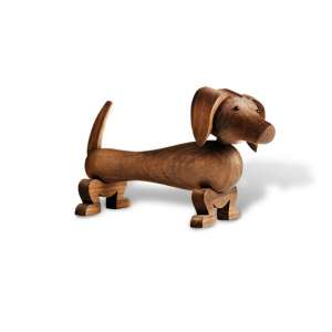 Hund 10,5 cm Wallnuss