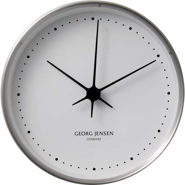Uhr 22 cm Edelstahl/weiß