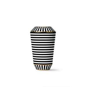 Vase schwarz/gold 20,3 cm