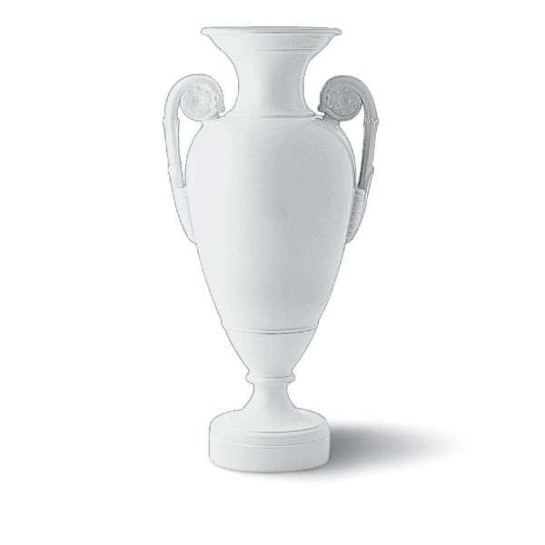 Vase Rosettenhenkel 70 cm weiß