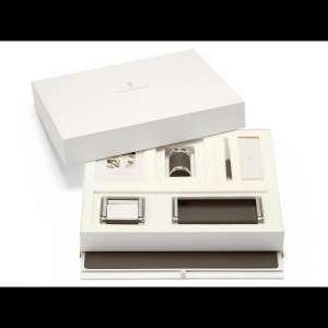 Schreibtischaccessoires-Set dunkelbraun