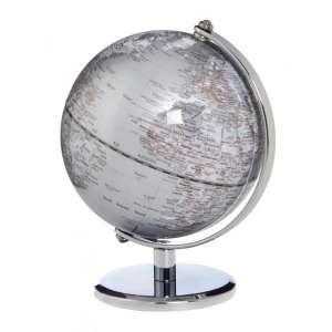 Mini-Globus silber