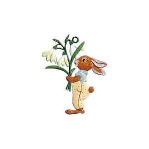 Hase mit Blumenstrauß