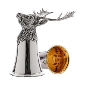 Tierkopfbecher Damhirsch H 14 cm Sterling Silber