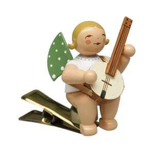 Engel m. Banjo, auf Klemme