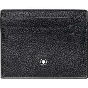 Kreditkartenetui 6 cc Soft Grain, schwarz