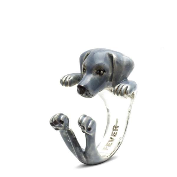 Ring Weimaraner Sterlingsilber 925 S