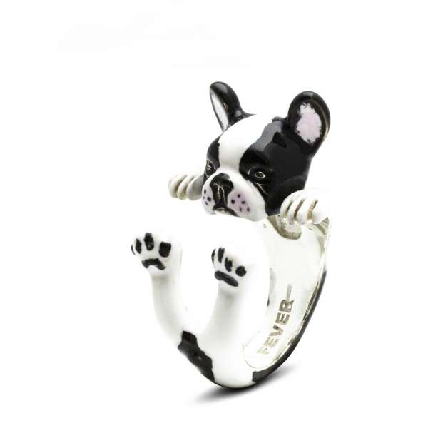 Ring Französische Bulldogge Sterlingsilber 925 M