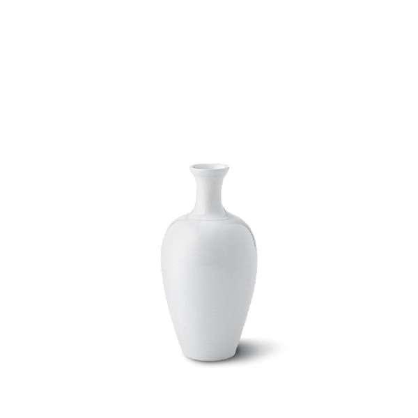 Japanische Vase klein 15 cm weiß