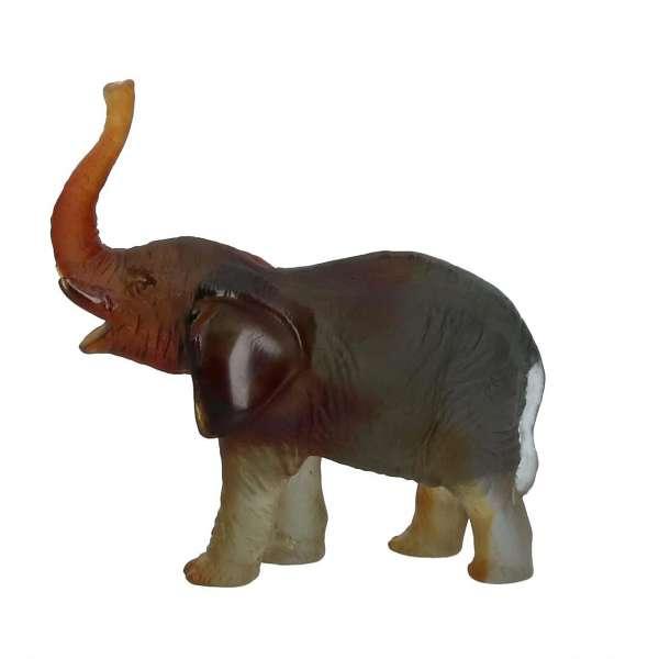 Elefant 14,5 cm grün/bernstein