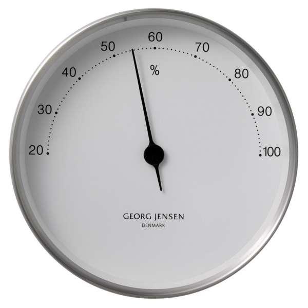 Hygrometer 10 cm Stahl/weiß