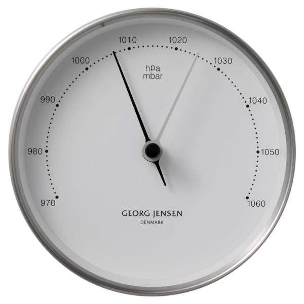 Barometer 10 cm Stahl/weiß