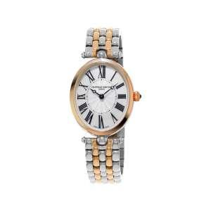 Armbanduhr Art Deco Perlmutt Zifferblatt Bicolor