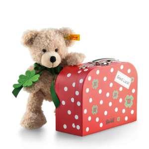 Teddybär Fynn im Koffer 24 cm, beige