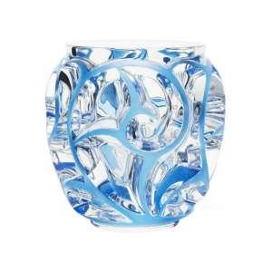 Vase Tourbillons 12,6 cm klar/blau patiniert