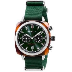 Clubmaster Sport Chronograph Datum brithisch grünes Zifferblatt Acetat/Edelstahl