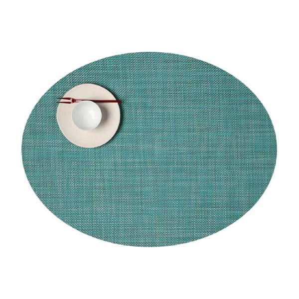 Tischset 36x49 cm oval Turquoise