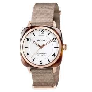 Armbanduhr Clubmaster Chic Silber weißes Zifferblatt Acetat/Rosegold PVD