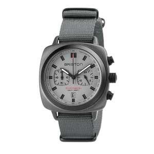 Clumaster Sport Chronograph Datum matt-graues Zifferblatt Gun grau PVD/Edelstahl