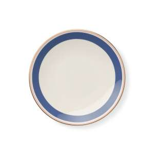 Frühstücksteller 24 cm blau/rosé
