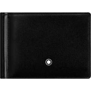 Brieftasche 6 cc m. Geldclip, schwarz