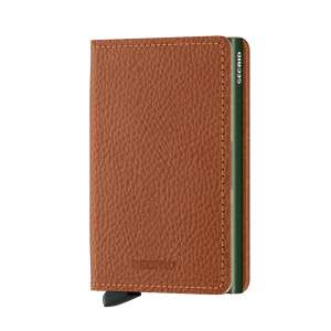 Slimwallet Vegetable Tanned caramello-green