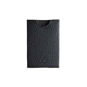 Kreditkartenetui RFID genarbtes Leder schwarz
