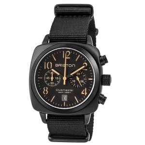 Clubmaster Classic Chronograph Datum matt schwarzes Zifferblatt Edelstahl geschwärzt