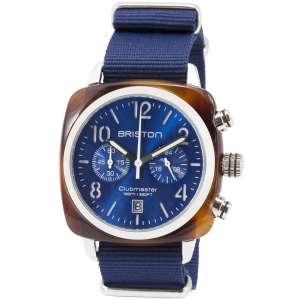 Clubmaster Classic Chronograph Datum blaues Zifferblatt Acetat/Edelstahl