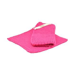 Topflappen (Paar) pink
