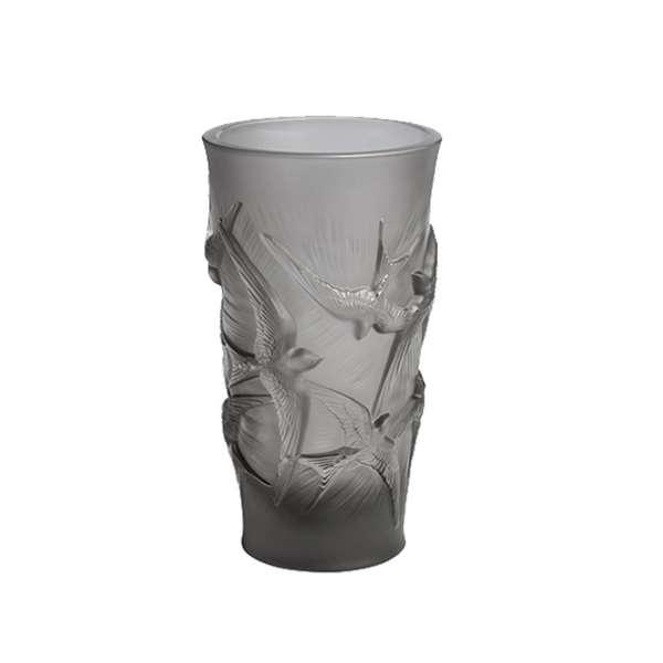 Vase 15 cm grau