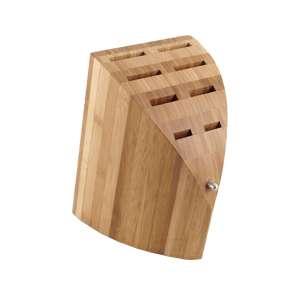 Messerblock Bambus für 8 Messer mit Staubbeutel, zerlegbar
