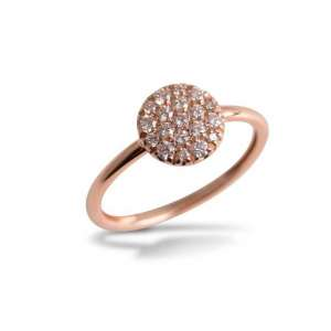 Ring rund Roségold 750 Diamanten 0,31 ct G SI W54