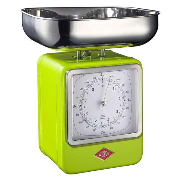Küchenwaage mit Uhr limegreen