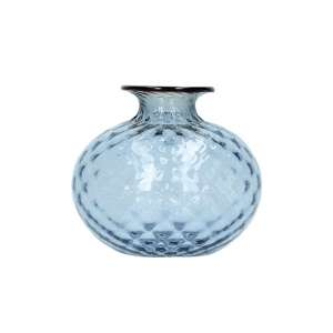 Vase 12,5 cm grape/blutroter Faden
