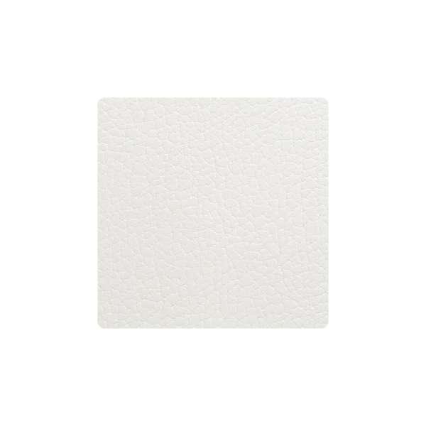 Glas Untersetzer 10x10 cm Bull weiß
