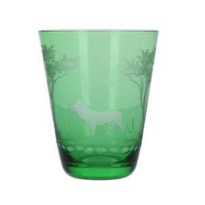 Becher Löwe 10,7 cm smaragd