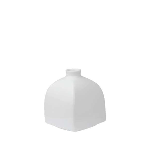 Vase Würfelform groß 11,5 cm weiß