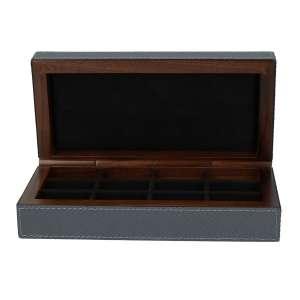 Manschettenknopfbox, Golf graphit, Naht graphit