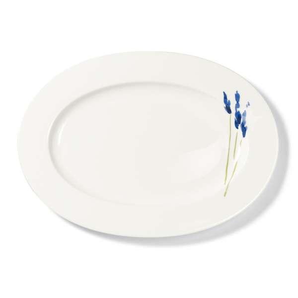 Platte oval 39 cm blau