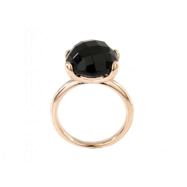 Ring Onyx Bronze plattiert