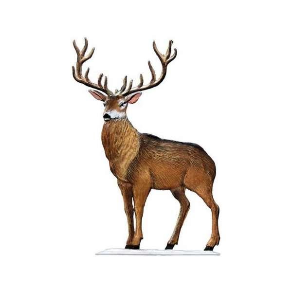 Hirsch im Schnee 9x9 cm