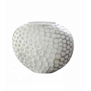 Vase 33x13x24,5 cm weiß