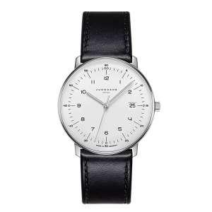 Armbanduhr Max Bill Mega Zifferblatt silber