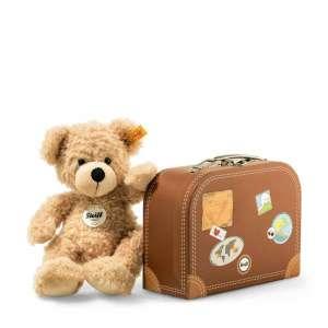 Teddybär Fynn m. Koffer 28 cm, beige