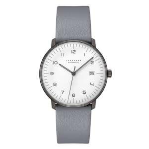 Armbanduhr Max Bill Automatik schwarz